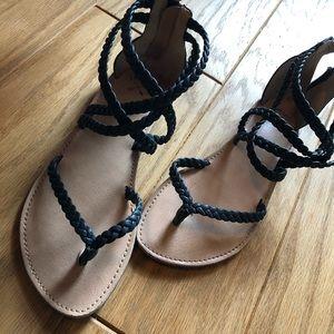 Shoes - Navy Blue Sandals